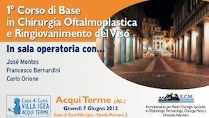 1° Corso di Base in Chirurgia Oftalmoplastica e Ringiovanimento del Viso