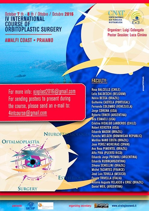 IV CORSO INTERNAZIONALE DI CHIRURGIA ORBITOPLASTICA.
